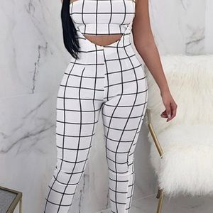 Pants - **Just Arrived **Twilled Satin Two-Piece Pants Set